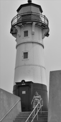 Light house near Duluth drawbridge